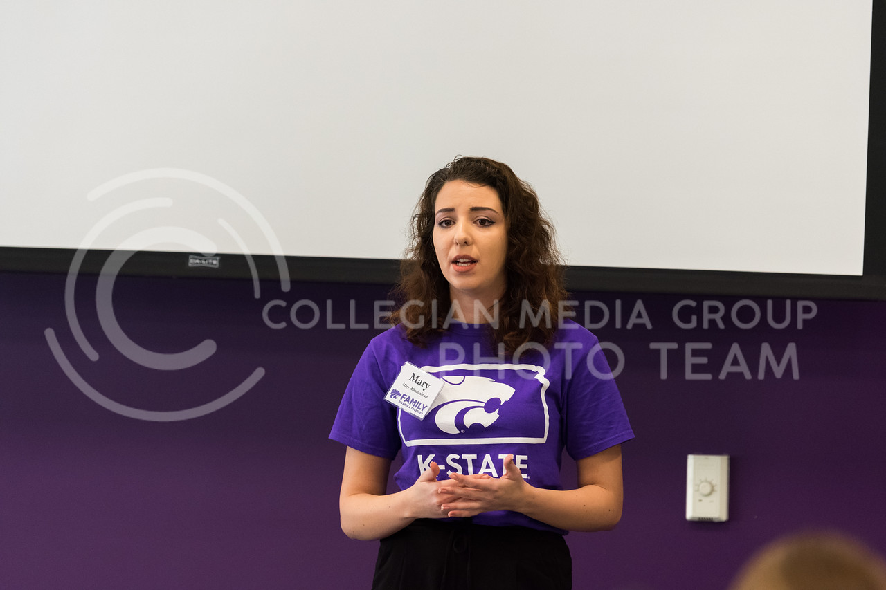 Mary Abounabhan, the SGA Multicultural Affairs Director, gives several tips on how to run a student organization.  (Alex Todd | Collegian Media Group)