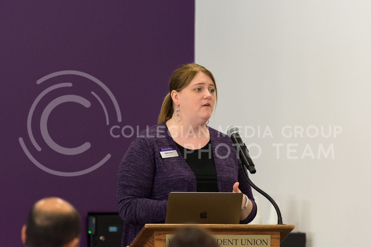 The new director for the Center for Student Involvement Kelli Farris provides details about student organizations and how K-State is working to make them better. (Alex Todd | Collegian Media Group)