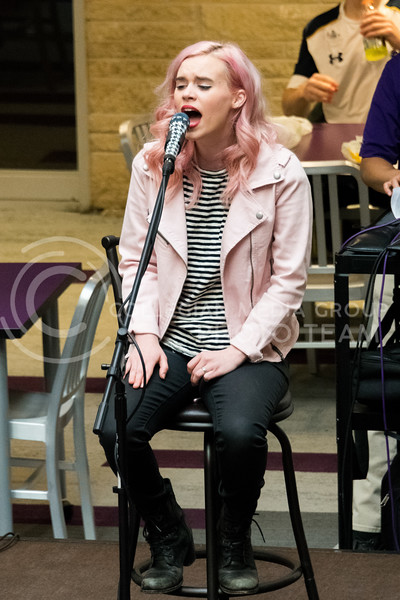 """Musical artist Krigarè performed her latest single """"Let Go"""" at the UPC Battle of the Cupcakes event at the Union on February 21. (Alex Todd   Collegian Media Group)"""