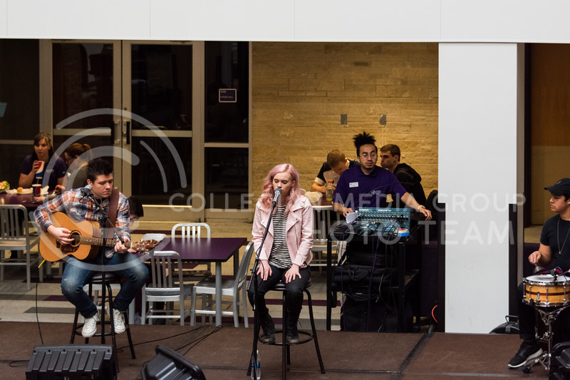 "Musical artist Krigarè performed her latest single ""Let Go"" at the UPC Battle of the Cupcakes event at the Union on February 21. (Alex Todd 