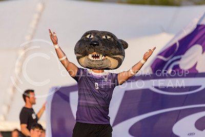 Willie the wildcat dances on the field before the game against Central Arkansas on Sept. 8, 2017, in the K-State Soccer Stadium. (Nathan Jones | Collegian Media Group)