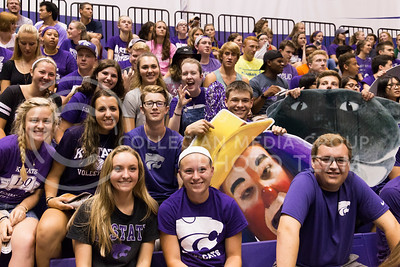 Students anticipate the K-State volleyball game against Miami on Sept. 9, 2016, in Ahearn Field House. (Anna Spexarth | The Collegian)