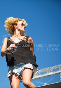 Adley Stump preforms during the Wildcat Kickoff in Bill Snyder Family Stadium on Sept. 10, 2016. (Emily Starkey | The Collegian)