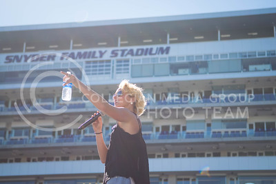 Adley Stump preforms during the Wildcat Kickoff in Bill Snyder Family Stadium on Sept. 10, 2016. (Meg Shearer | The Collegian)