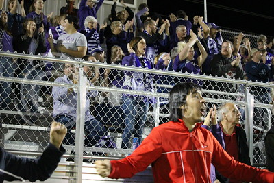 K-State soccer fans cheer after the team scored its first goal against UMKC during the last home game on Sept. 30, 2016. The Wildcats ended their fourth game with a 2-0 win over the Kangaroos. (Alanud Alanazi   The Collegian)