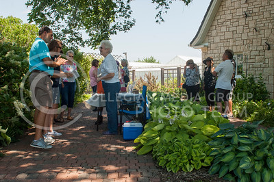 Visitors tour the Kansas State University Gardens during the 29th Annual Master Garden tour in Manhattan, KS on June 11, 2017. The tour featured six residential gardens as well as the K-State gardens. (Justin Wright | Collegian Media)