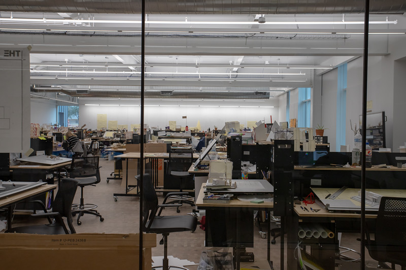 Studio space for students at the APDesign College. (Jordan Koster | Collegian Media Group)