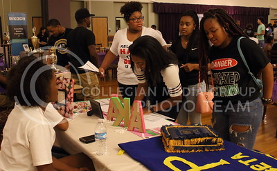 Students sign up to receive more information about the Alpha Kappa Alpha sorority at the BSU back to school BBQ in the Student Union Ballroom on August 27, 2016. (Miranda Snyder | The Collegian)
