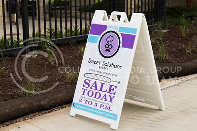 A sign advertising the Bakery Science Club's Bake sale sits outside Shellenberger Hall on Sept. 21, 2016. (Anna Spexarth | The Collegian)