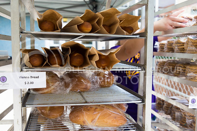Loaves of vienna bread wait to be bought at the Bakery Science Club's Bake sale on Sept. 21, 2016. (Anna Spexarth | The Collegian)