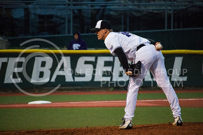Senior, Colton Kalmus, pitches with K-State against University of Nebraska-Omaha on Wednesday at Tointon Family Stadium (Logan Wassall | The Collegian)