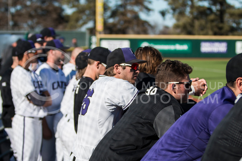 The K-State baseball team plays against La Salle in Tointon Family Stadium on Mar. 2, 2018. The Wildcats defeated the Explorers 9-3. (Logan Wassall | Collegian Media Group)