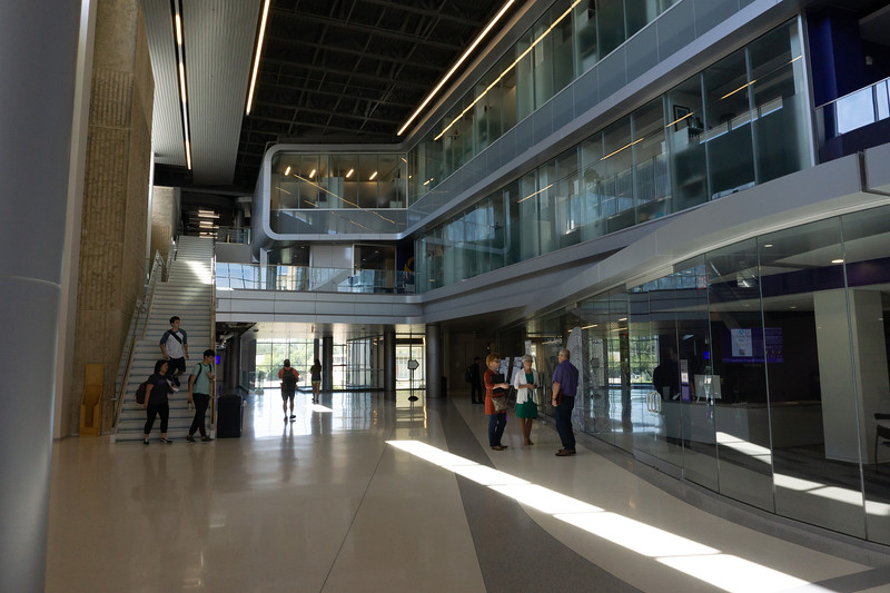 A view outside the engineering building which houses the BeoCat super computer. The tour of the computer's facility was given on Sept. 13, 2019. (Abigail Compton| Collegian Media Group).
