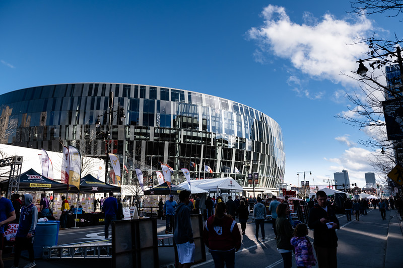 The Sprint Center during the 2019 BigXII Tournament. (Olivia Bergmeier | Collegian Media Group)
