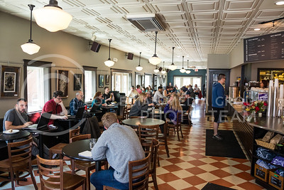 Customers sit in Bluestem Bistro on Apr. 27, 2017. (John Benfer | The Collegian)