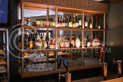 Various alcohol beverages are displayed in Bluestem Bistro on Apr. 27, 2017. (John Benfer | The Collegian)