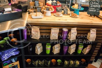 Food and merchandise is displayed in Bluestem Bistro on Apr. 27, 2017. (John Benfer | The Collegian)
