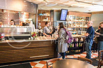Customers wait in line in Bluestem Bistro on Apr. 27, 2017. (John Benfer | The Collegian)