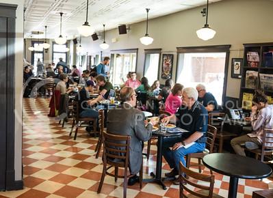 Customers sit in Bluestem Bistro on Apr. 27, 2017. (John Benfer | The Collegian)