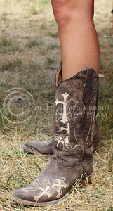 Bush's boots featured crosses stitched into the material. (Miranda Snyder | The Collegian)