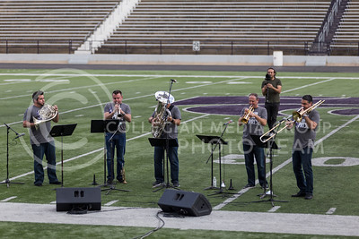 Members of Boston Brass perform their show during the Central States Marching Festival in Bill Snyder Family Stadium on Oct. 15, 2016. (Nathan Jones | The Collegian)