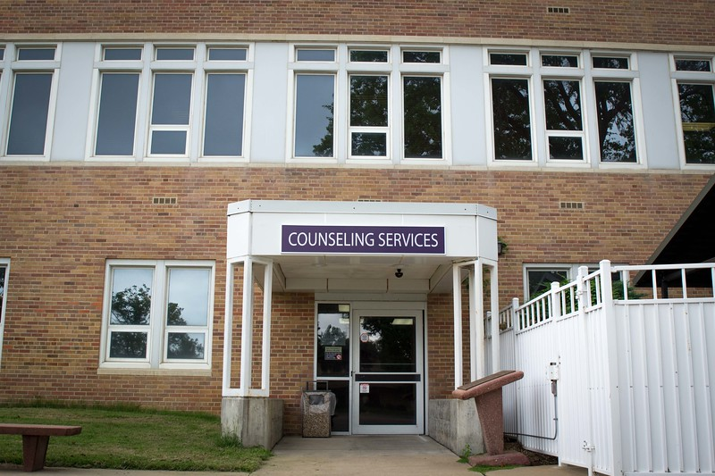 Kansas State's Counseling Services is now located in room 101 in Lafene. The center offers focused counseling to currently registered students in crisis-intervention, decision making, adjustment and other matters of personal concern. (Collegian Media Group | Hannah Greer)