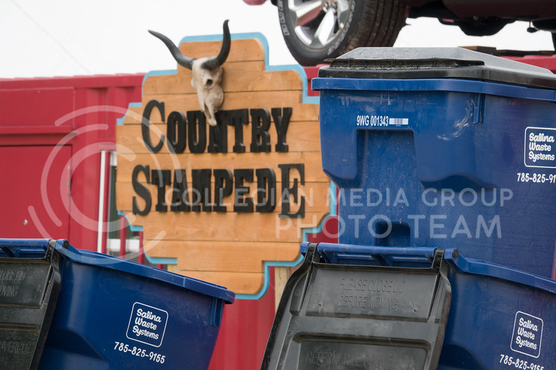 The morning after the Country Stampede, a country music festival hosted in Tuttle Creek Park from June 21 - 23, was devoted to cleaning up the campgrounds from the weekend festivities. (Alex Masson | Collegian Media Group)
