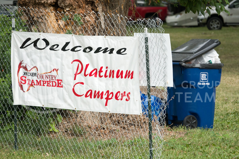 The morning after the Country Stampede, a country music festival hosted in Tuttle Creek Park from June 21 - June 23, was devoted to cleaning up the campgrounds from the weekend festivities. (Alex Masson | Collegian Media Group)