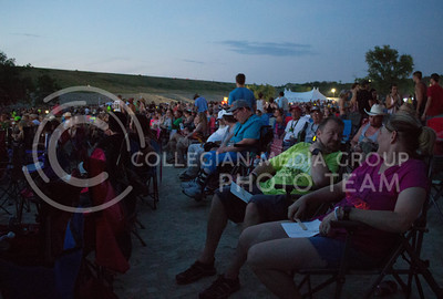 Fans sit and wait for Dierks Bentley to perform on day 1 of Country Stampede on Thursday. (Photo by Michael Weninger | The Collegian)