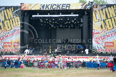 The crowds start to form on June 23, 2016  during Courtney Coles performance on the main stage of Country Stampede on June 23, 2016. (Photo by Evert Nelson | The Collegian)