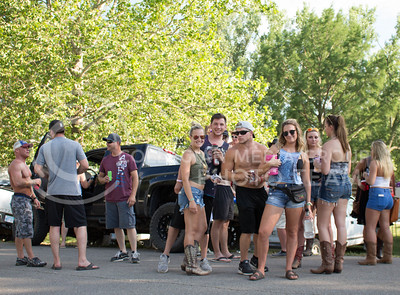 Partygoers gather at the campgrounds in Country Stampede on Friday. (Photo by Michael Weninger | The Collegian)
