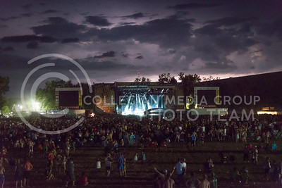 Thunderstorms approach behind Jake Owen's set at Country Stampede on June 25, 2016. The storm produced wind and lightening but stayed away from the site throughout the night. (Photo by Evert Nelson | The Collegian)