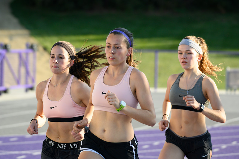 K-State Cross Country team practices at the R.V. Christian Track and Field complex on Oct 25, 2019. (Dylan Connell | Collegian Media Group)