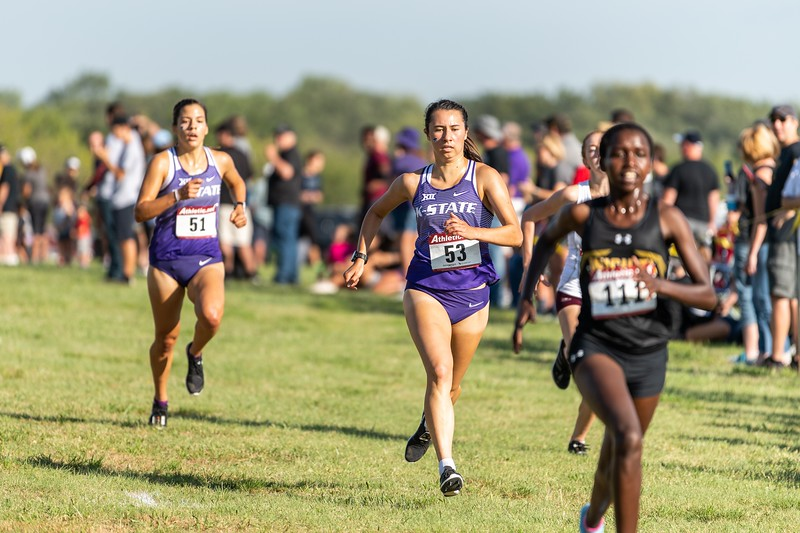 K-State #53 Emma Wren placed 5th in the women's 4k at the J.K. Gold Classic in Augusta, KS on September 1, 2018. (Alex Todd | Collegian Media Group)