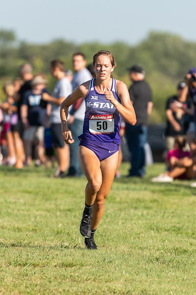 K-State freshman Karley Larson placed 49th in the women's 4k at the J.K. Gold Classic in Augusta, KS on September 1, 2018. (Alex Todd | Collegian Media Group)