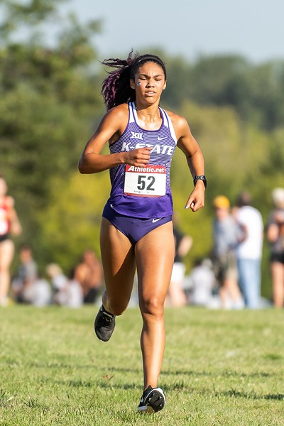 K-State sophomore Victoria Robinson placed 39th in the women's 4k at the J.K. Gold Classic in Augusta, KS on September 1, 2018. (Alex Todd | Collegian Media Group)
