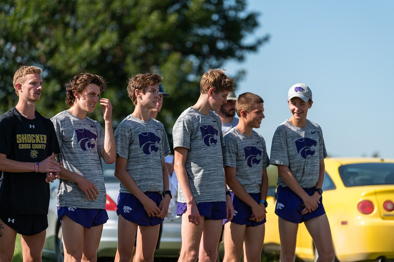 The K-State men's cross country team won first place with a score of 25 at the J.K. Gold Classic in Augusta, KS on September 1, 2018. (Alex Todd | Collegian Media Group)