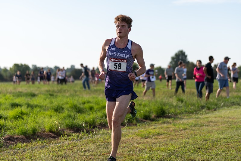 K-State senior Travis Hodge placed 32nd in the men's 6k at the J.K. Gold Classic in Augusta, KS on September 1, 2018. (Alex Todd | Collegian Media Group)