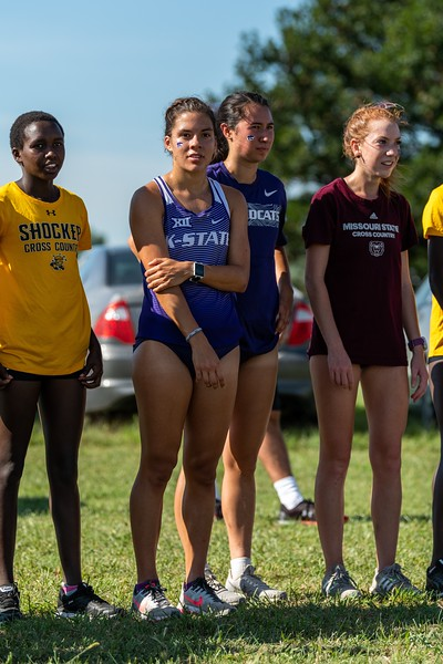 K-State's Emma Wren and Cara Melgares placed 5th and 6th in the women's 4k at the J.K. Gold Classic in Augusta, KS on September 1, 2018. (Alex Todd | Collegian Media Group)