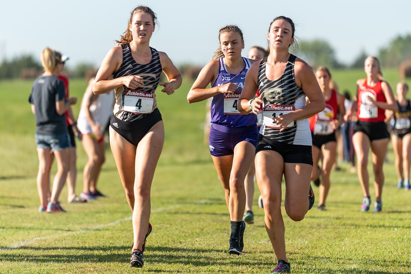 K-State junior Anna Keeley placed 32nd in the women's 4k at the J.K. Gold Classic in Augusta, KS on September 1, 2018. (Alex Todd | Collegian Media Group)