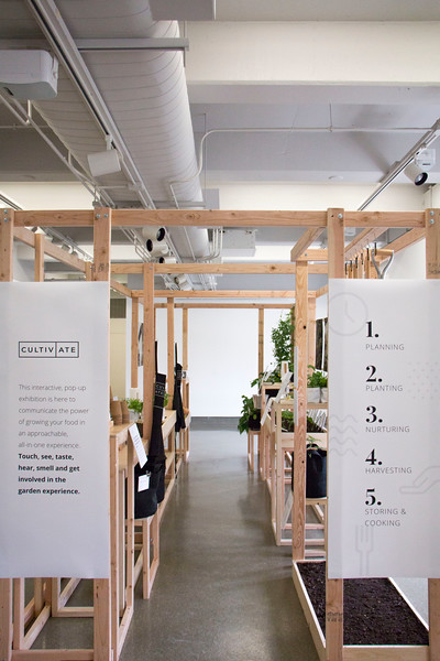 """Willard Hall presented """"Cultivate — An Investigation of Narrative's Roll in Design,"""" by Master of Fine Arts candidate Taylor Klover this week. An overview shot of the exhibit shows its size. (Andrew Kemp   Collegian Media Group)"""