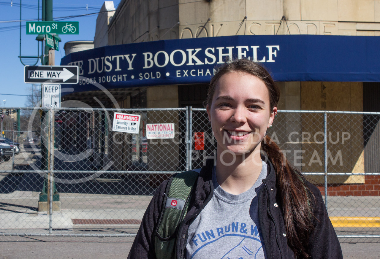 """I'm really sad becasue I've been in Manhattan my whole life and I've been going [to the Dusty Bookshelf] my whole life. I'm glad the books weren't in there. That would have probably made me cry."" -Keturah Pence, senior in family studies and human services (Regan Tokos 