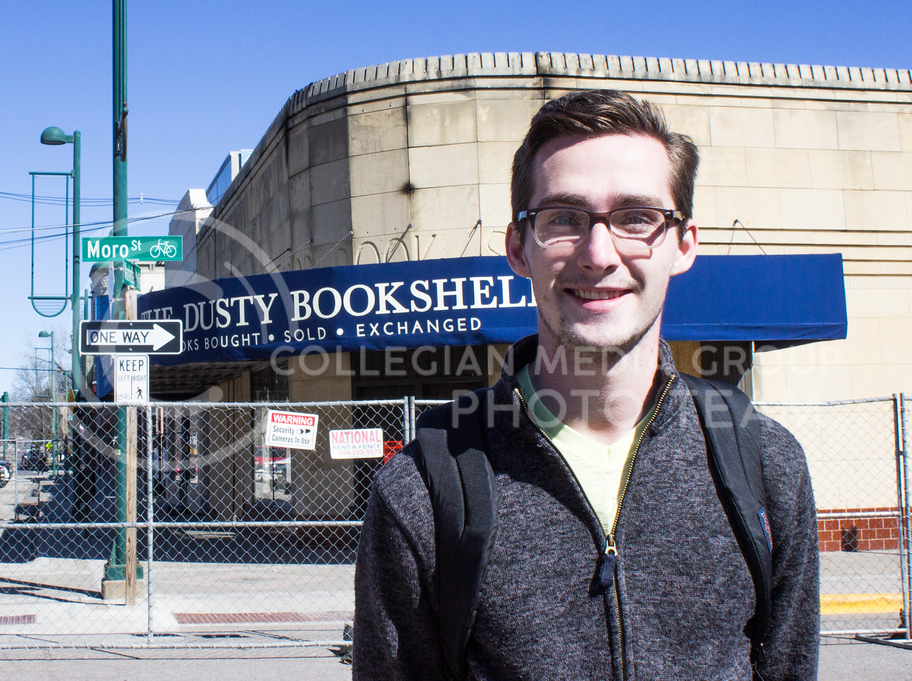 """""""I love the Dusty Bookshelf. I'm a big reader. I stopped by and looked at the dollar bookshelf everyday so I really miss that part of my walk home."""" -Patrick Kenney, senior in political science (Regan Tokos 