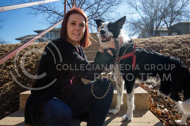 Alyssa Arnsperger, sophomore studying Animal Science Pre-Vet with a minor in Business loves taking her dog Milo outside so that they can play and go for walks after long days. (Sabrina Cline | Collegian Media Group)