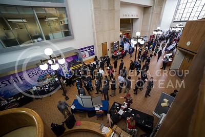 Engineer Career Fair  in Fiedler Hall on Feb. 8, 2017. (Nathan Jones   The Collegian)