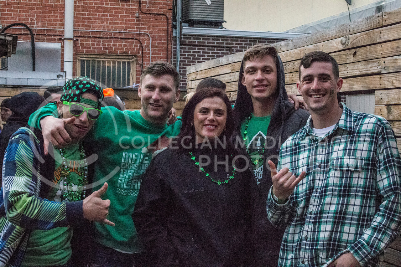 Activities during 2017's Fake Patty's Day celebration in Aggieville (Logan Wassall   The Collegian)