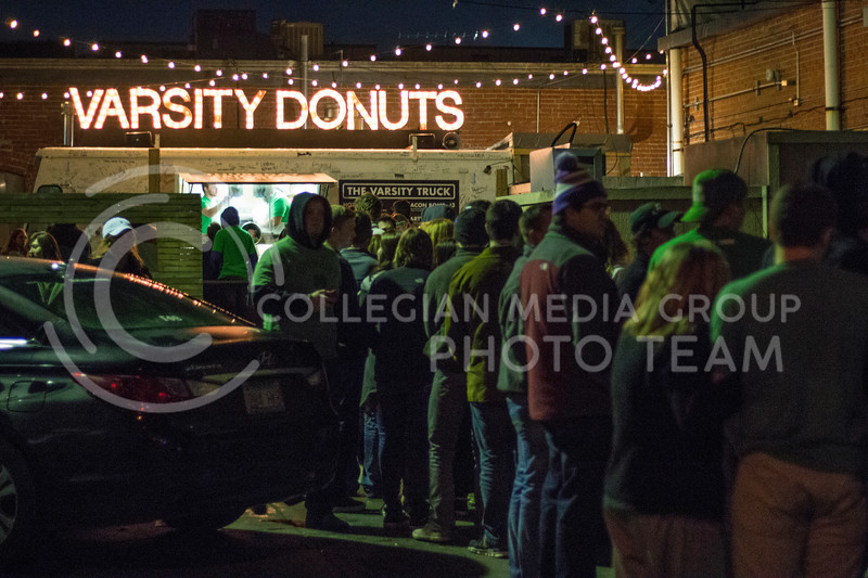 Activities during 2017's Fake Patty's Day celebration in Aggieville (Logan Wassall | The Collegian)