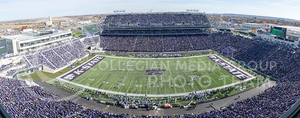 Bill Snyder Family Stadium hosted the 2016 Sunflower Showdown against KU on Nov. 26. The Wildcats won 34-19. (Evert Nelson | The Collegian)