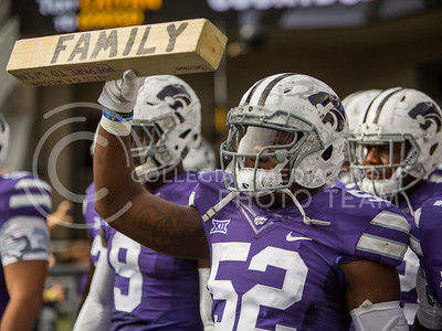K-State football players exit the tunnel for the game against Oklahoma State on Nov. 5, 2016, in Bill Snyder Family Stadium. (Emily Starkey | The Collegian)
