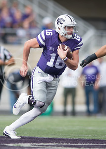 Junior quarterback Jesse Ertz runs downfield during the game between K-State and Oklahoma State in Bill Snyder Family Stadium on Nov. 5, 2016. (George Walker | The Collegian)
